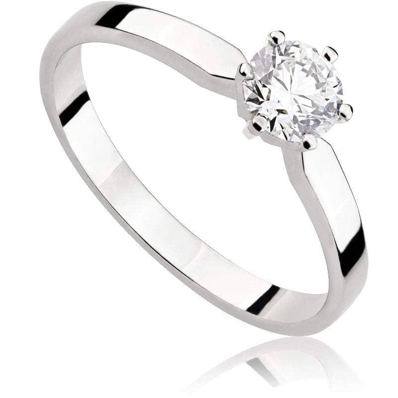 Pierścionek z diamentem z białego złota P0207BBct