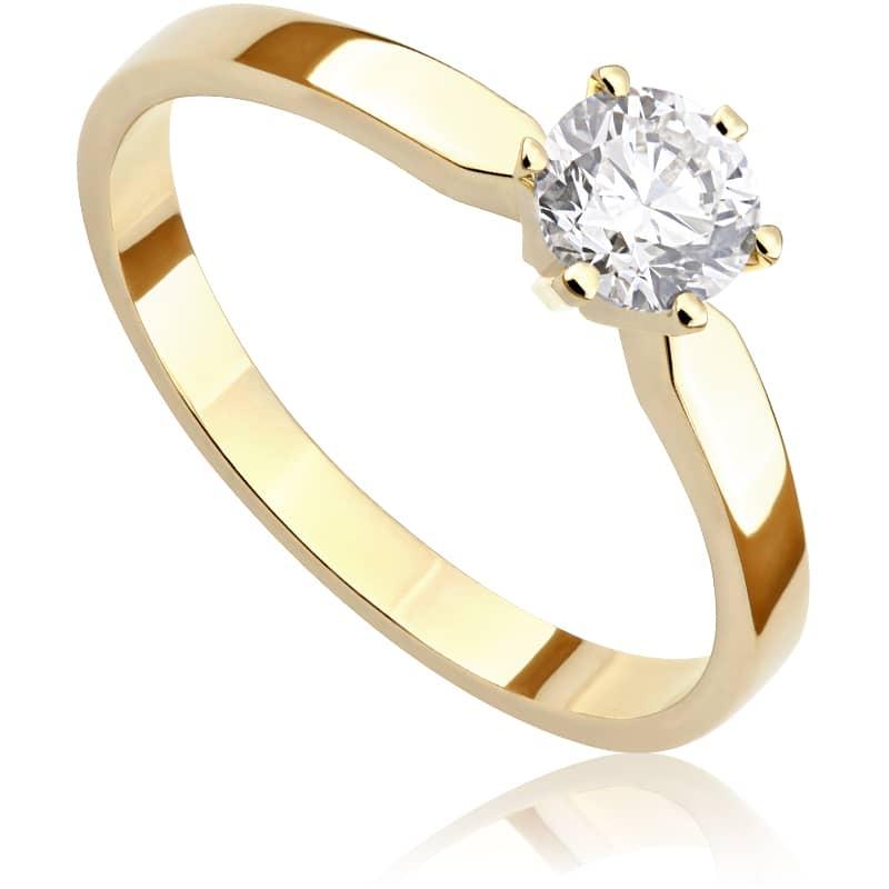 Pierścionek zaręczynowy z żółtego złota P0207ZB