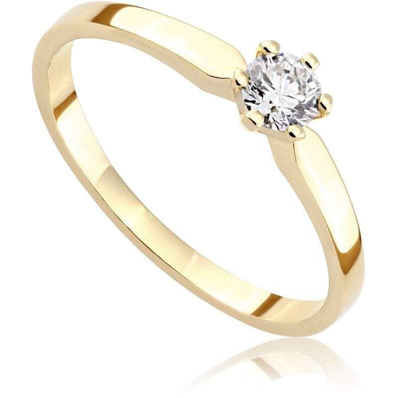 Pierścionek Zaręczynowy Z Diamentem Z żółtego Złota P0209zb