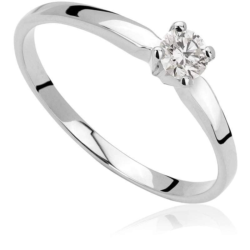 Pierścionek zaręczynowy z białego złota P0215BB