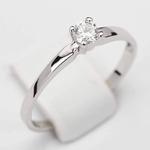 Pierścionek zaręczynowy z diamentem z białego złota P0215BB