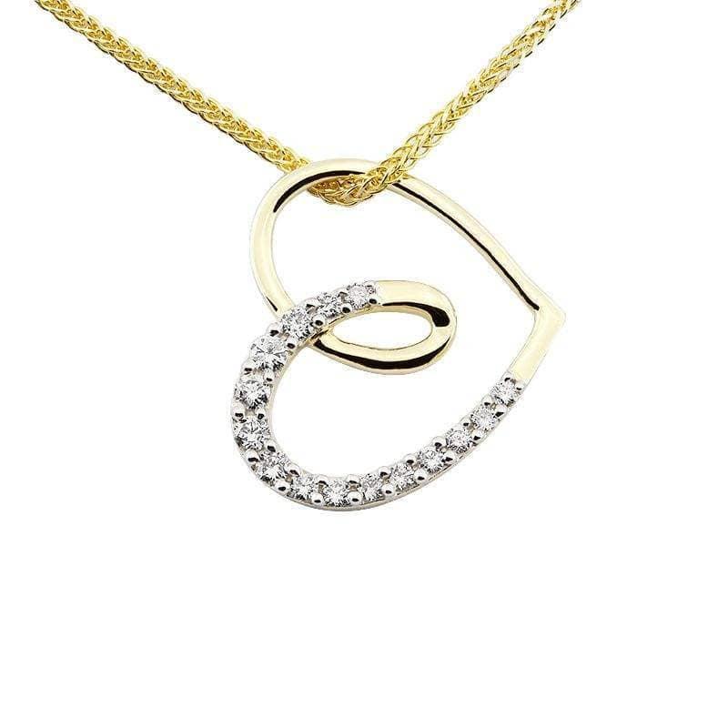 Zawieszka z diamentami z żółtego złota Z0429ZB