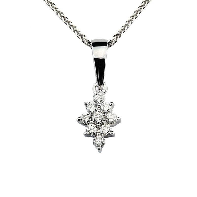 Zawieszka z diamentami z białego złota Z0419BB