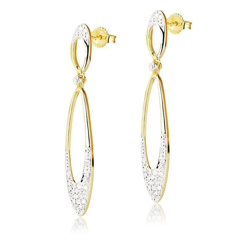 Kolczyki z diamentami z żółtego złota K0439ZB