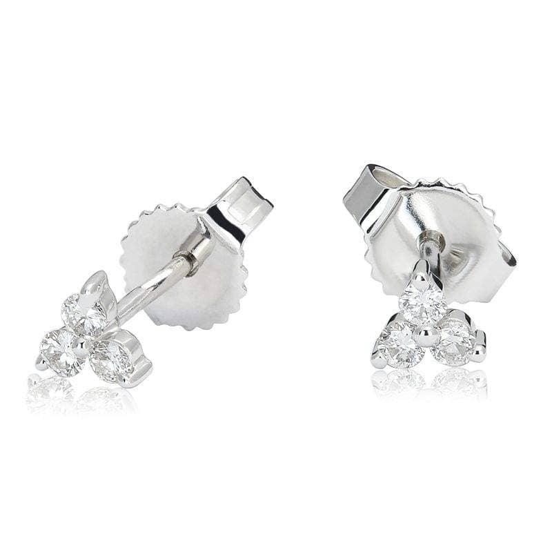 Kolczyki z diamentami z białego złota K0405BB