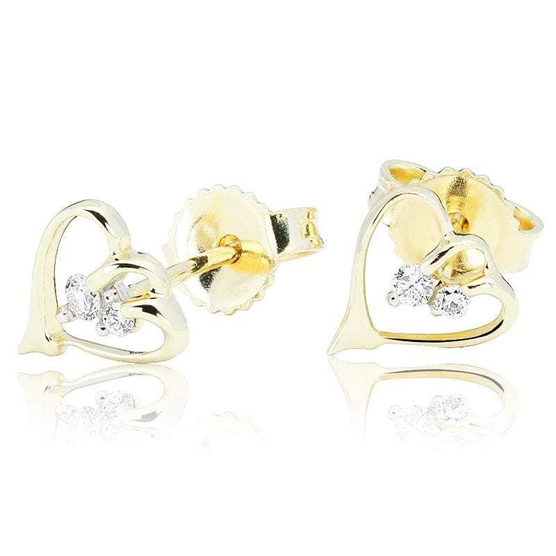 Kolczyki z diamentami z żółtego złota K0426ZB