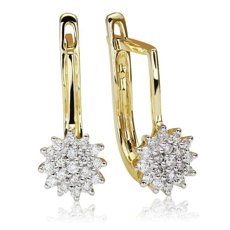 Kolczyki z diamentami z żółtego złota K1427ZB