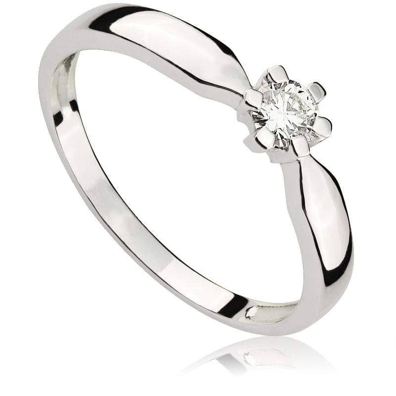 Pierścionek z diamentem z białego złota P0005BBct