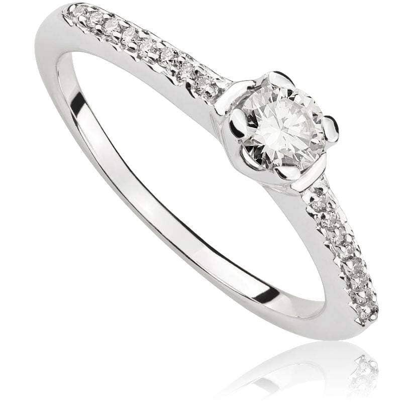 Pierścionek z diamentami z białego złota P0474BBct