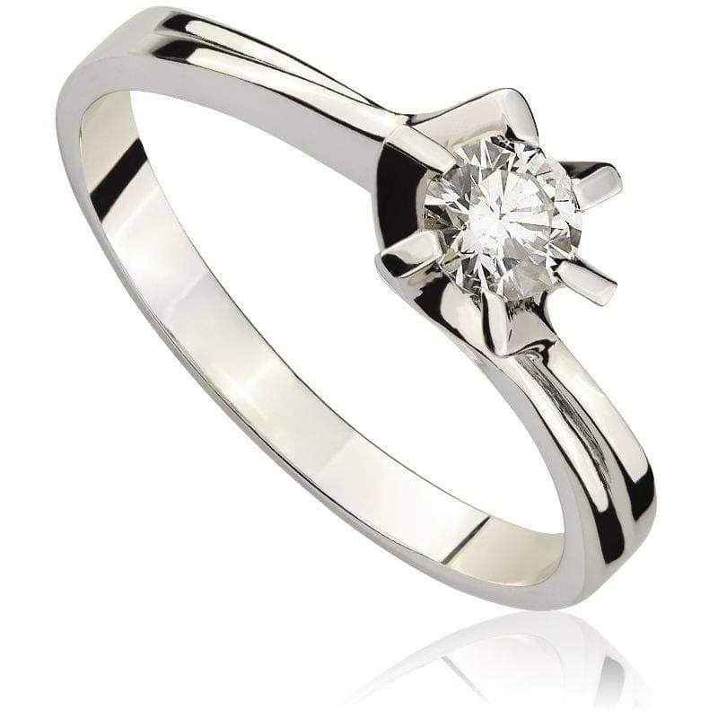 Pierścionek z diamentem z białego złota P0103BBct