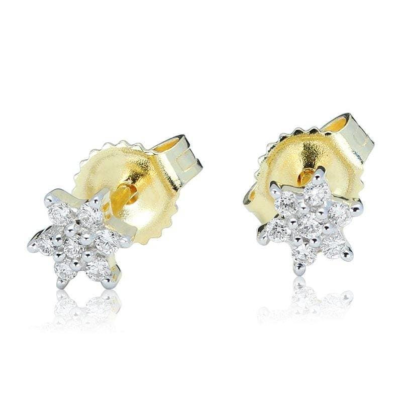 Kolczyki z diamentami z żółtego złota K0411ZBct