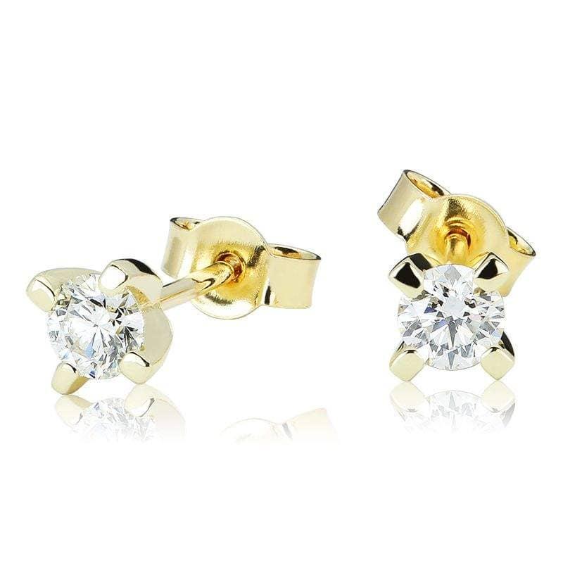 Kolczyki z diamentami z żółtego złota K0067ZB