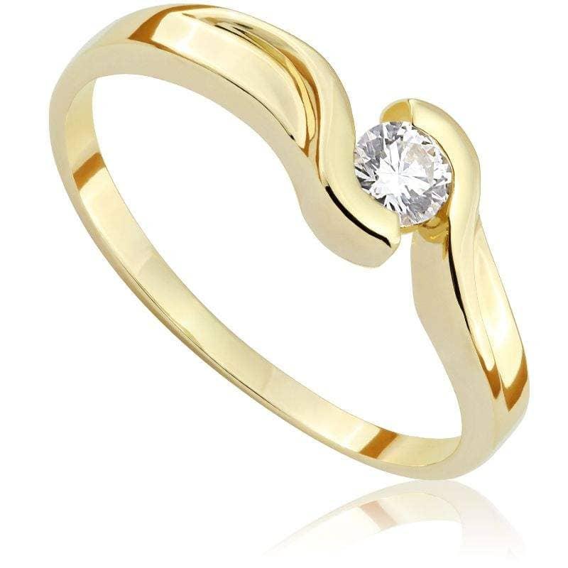 Pierścionek z diamentem z żółtego złota P0193ZBct