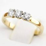 Pierścionek zaręczynowy z diamentami z żółtego złota P0536ZB