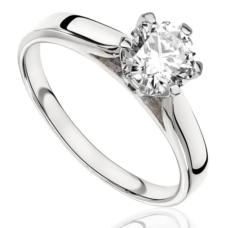 Pierścionek zaręczynowy z białego złota P0170BB