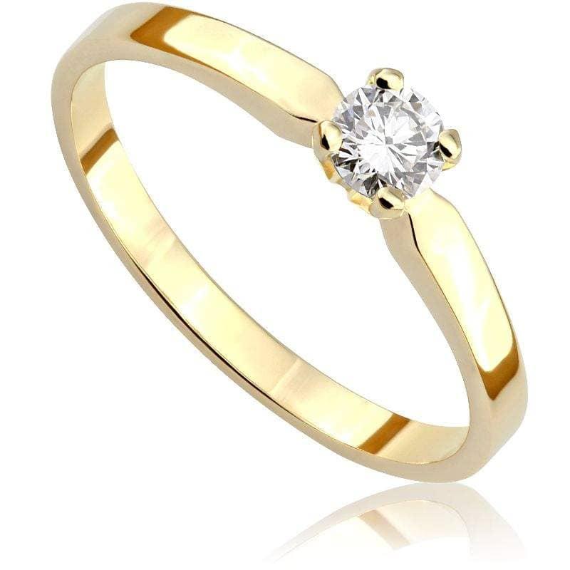 Pierścionek zaręczynowy z diamentem z żółtego złota P0201ZB