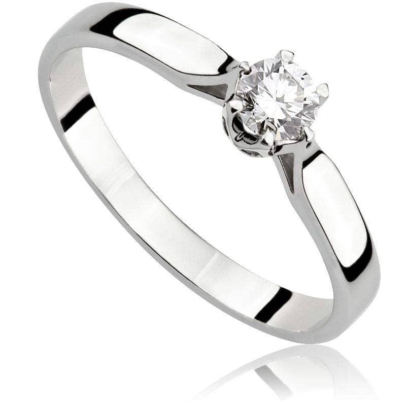 Pierścionek zaręczynowy z białego złota P0204BB