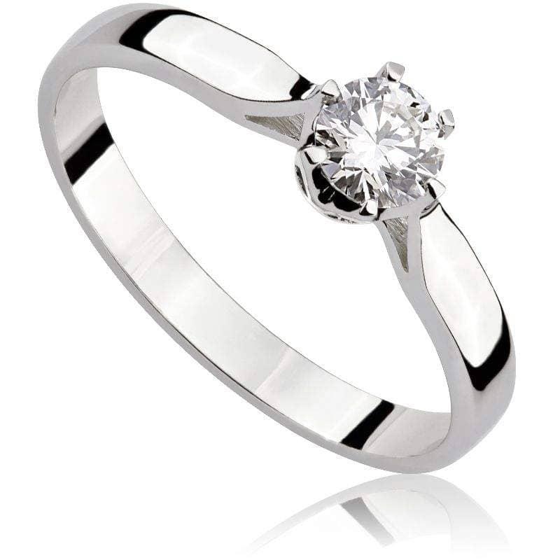 Pierścionek z diamentem z białego złota P0203BBct