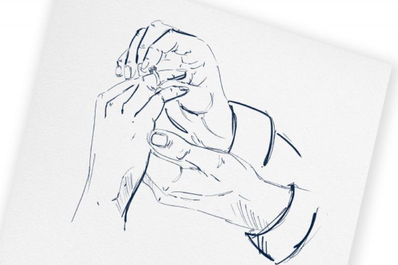 Na którym palcu i ręce?