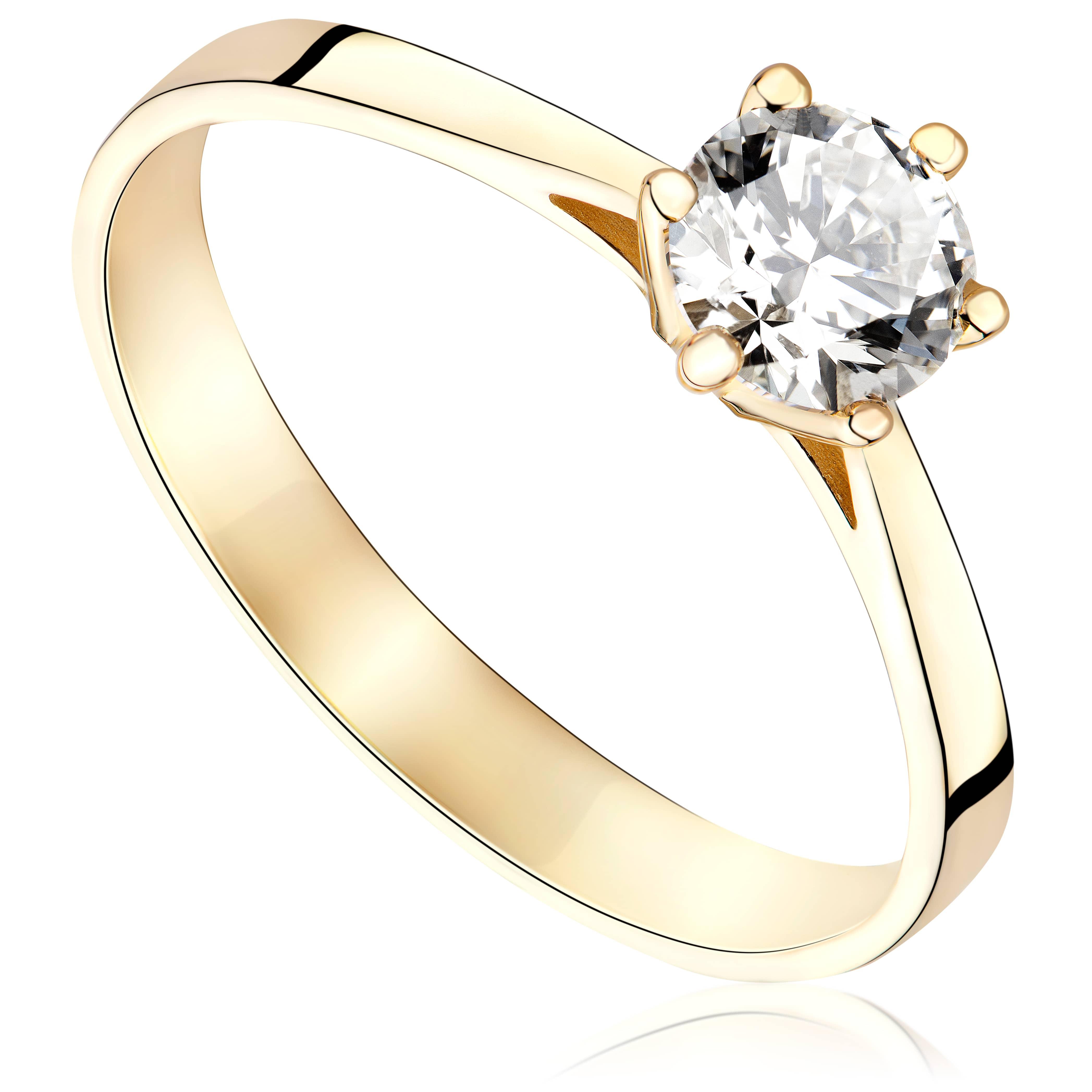 Pierścionek zaręczynowy z żółtego złota P4234ZB
