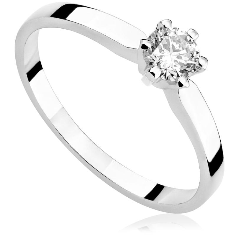Pierścionek zaręczynowy z białego złota P0208BB