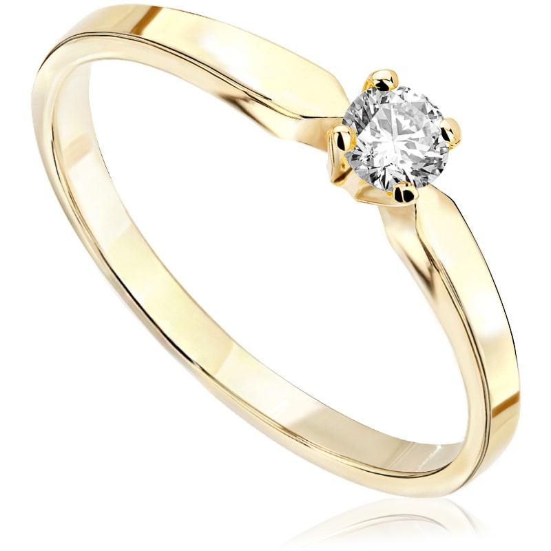 Pierścionek zaręczynowy z żółtego złota P0215ZB