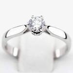 Pierścionek zaręczynowy z diamentem z białego złota P3203BB