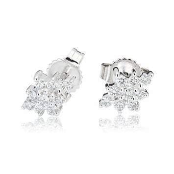 Kolczyki z diamentami z białego złota K0419BB 0,25ct
