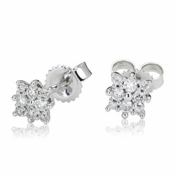 Kolczyki z diamentami z białego złota K0428BB 0,16ct