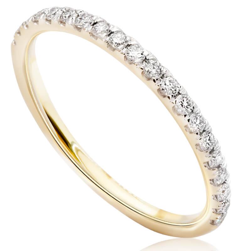 Pierścionek zaręczynowy z żółtego złota OB568ZB
