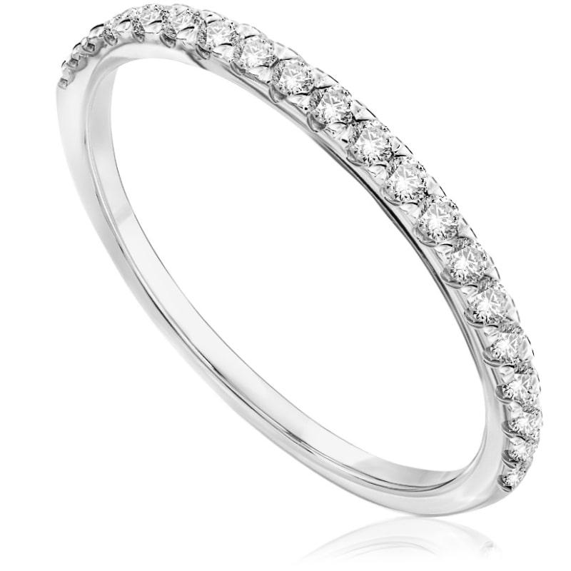 Pierścionek zaręczynowy z białego złota OB568BB