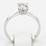 Pierścionek zaręczynowy z brylantem z białego złota P0228BB