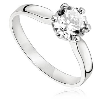 Pierścionek zaręczynowy z brylantem z białego złota P0233BB 1,00ct