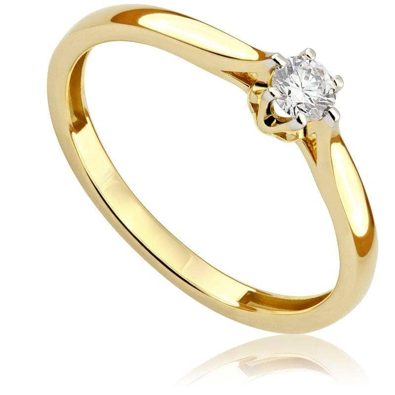 Pierścionek zaręczynowy z żółtego złota P0525ZB