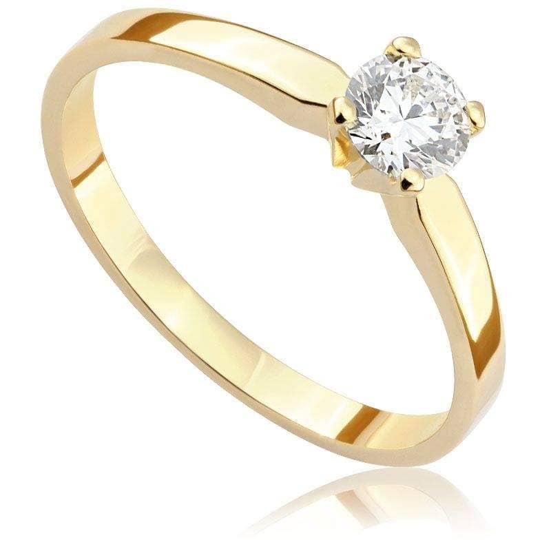 Pierścionek zaręczynowy z żółtego złota P0194ZB