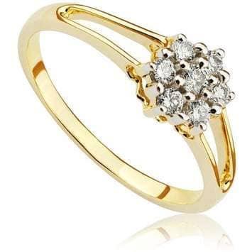 Pierścionek zaręczynowy z brylantami z żółtego złota P0417ZB 0,20ct